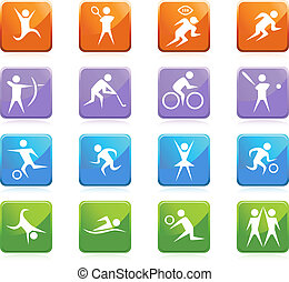 Sport set isolated on a white background.