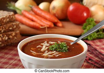 Tomato soup - Bowl of tomato soup