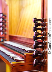 Detail of the organ
