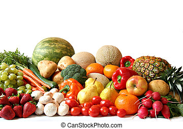 Fruit and vegetable variety - Large variety of fresh fruit...
