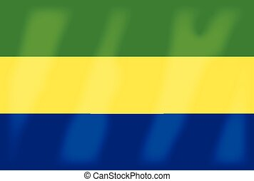 Gabon Flag - The flag of the African country of Gabon