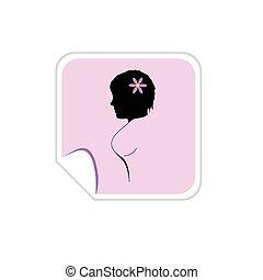 girl vector silhouette illustration