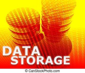 Data storage illustration - Data storage abstract, computer...