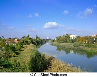 Panoramas of Zrenjanin - View from one of the bridges on the...