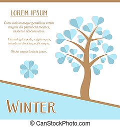 Winter season card - Winter season greeting card design with...