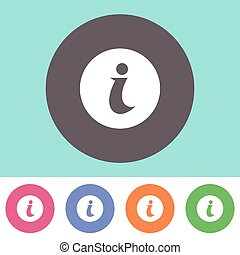 Info icon - Single vector info icon on round colorful...