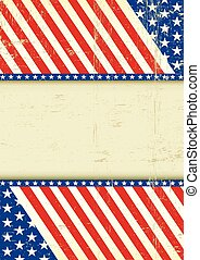 Dirty USA cool flag - A grunge poster of America for your...