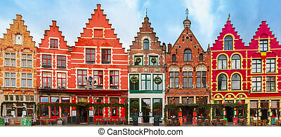 Christmas Grote Markt square of Brugge, Belgium - Christmas...