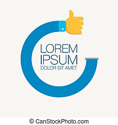Thumbs up icons vector illustration