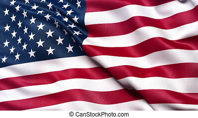 Seamless USA flag - Seamless USA Flag waving in the wind...