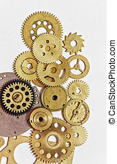Gears and watch parts - Screw heads, gears, textures and...