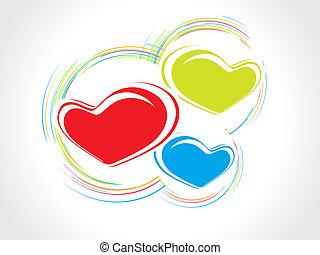 Valentine Day background - Valentine Day swirl line...