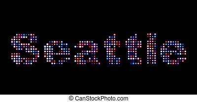 Seattle led text
