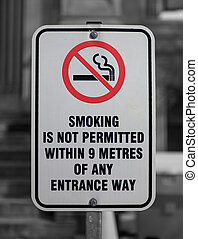 Smoking Not Permitted Sign - A Smoking is not permitted...