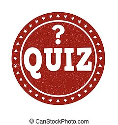 Quiz stamp - Quiz grunge rubber stamp on white background,...