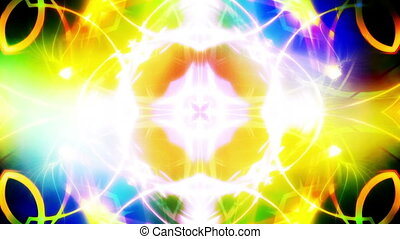 Ultra Bright Colors Abstract Loop - Ultra Bright Colors...