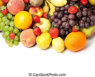 Fresh fruit - Colorful healthy fresh fruit. Shot in a studio