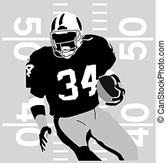 Football player rules - american football sport silhouette...