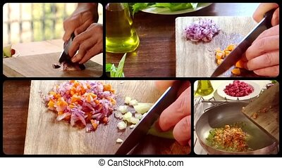 cooking bolognese meat sauce composition