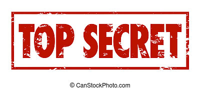 Top Secret Words Red Grunge Stamp Classified Confidential...