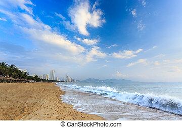 Nha Trang City Beach, Early Morning - Nha Trang City Beach,...