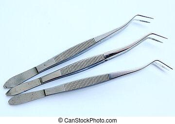 dental, ferramentas, em, dental, clinic, ,