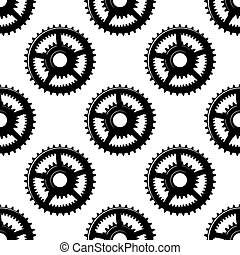 Abstract seamless gear wheels pattern