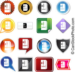 Refrigerator icon set