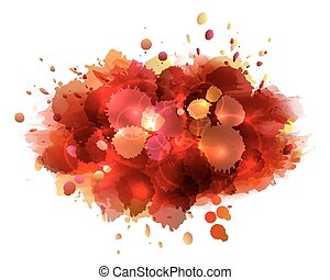Abstract artistic background of red