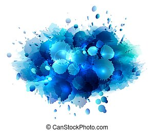 Abstract artistic background of blu