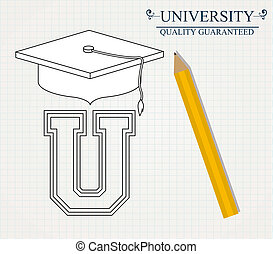 University design, vector illustration. - University design...