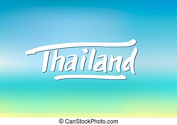 Thailand hand drawn lettering Typographic design elements