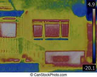 Heat Loss Detection - Thermal Image of the House