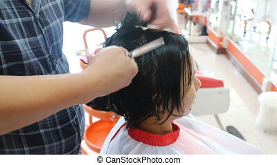 Hair Dresser Cutting For Woman