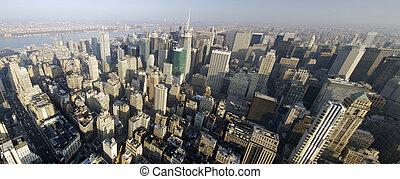 New York - panoramic view in Manhattan, New York