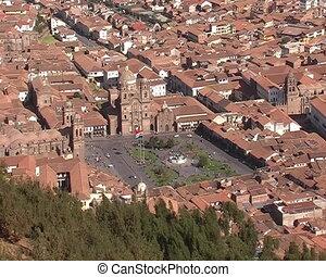 Panorama of Cusco city, Peru