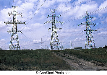 Hydro Towers - Hydro power towers in a conservation area