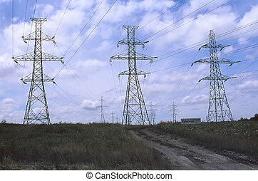 Hydro power towers in a conservation area