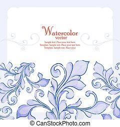 Barocco watercolor lace ornament - Elegant barocco...