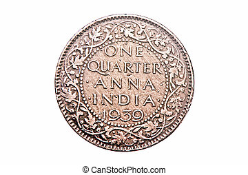One quarter anna of 1939 george v king, Antique Indian Coin