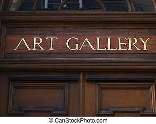 art Gallery sign.