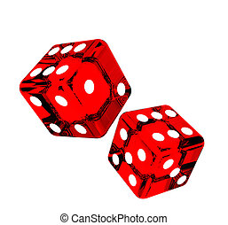 Falling dice for gambling
