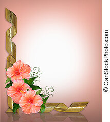 Wedding or Party Invitation Hibiscus