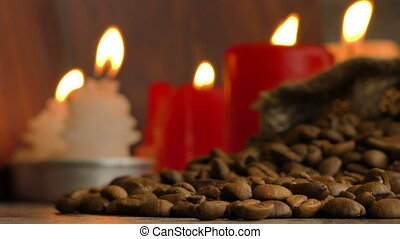 Roasted Coffee in Candle Light