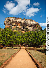 Sigiriya rock - Famous ancient Sigiriya rock. Sri Lanka