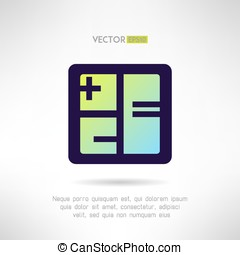 Simple calculator icon im modern design. Accounting business...