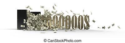 safe and 1000000 dollars - vintage safe and million dollars