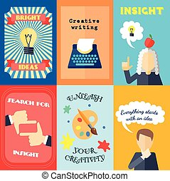 Muse Mini Poster Set - Muse bright ideas creative writing...