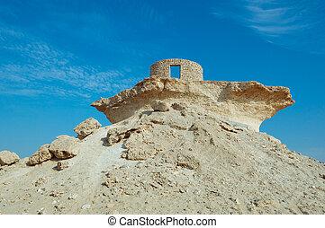 Fort in the Zekreet desert of Qatar, Middle East