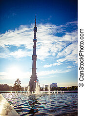 Ostankino TV tower in Moscow